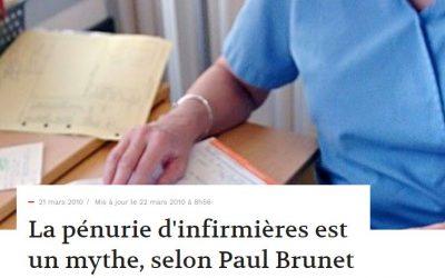 La pénurie d'infirmières est un mythe, selon Paul Brunet