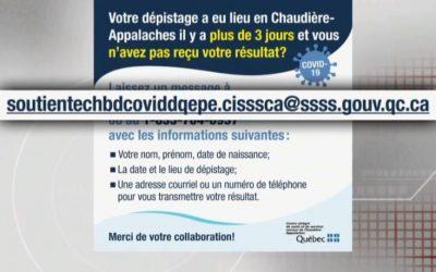 L'adresse courriel critiquée retirée par le CISSS de Chaudière-Appalaches