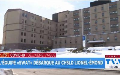 L'équipe « SWAT» débarque au CHSLD Lionel-Émond