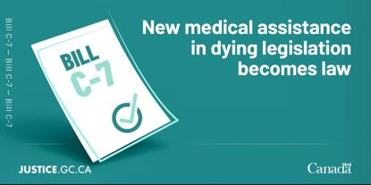 New medical assistance in dying legislation becomes law